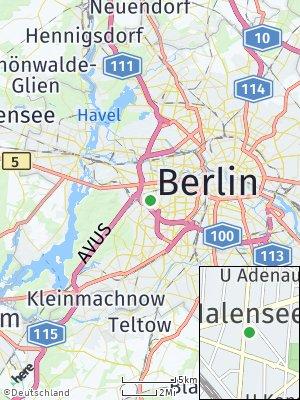 Here Map of Charlottenburg-Wilmersdorf