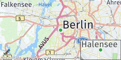 Google Map of Charlottenburg-Wilmersdorf