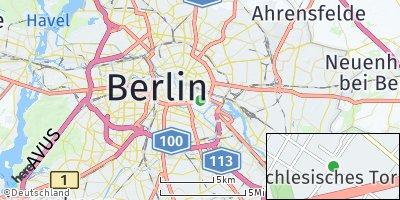 Google Map of Friedrichshain-Kreuzberg