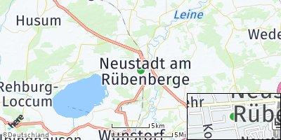 Google Map of Neustadt am Rübenberge