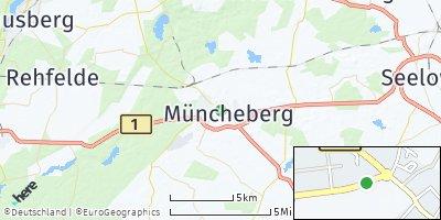 Google Map of Müncheberg