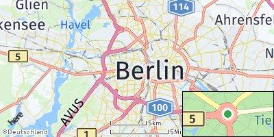 Google Map of Tiergarten
