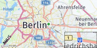 Google Map of Friedrichshain