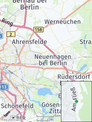 Here Map of Hoppegarten