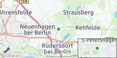 Google Map of Petershagen / Eggersdorf