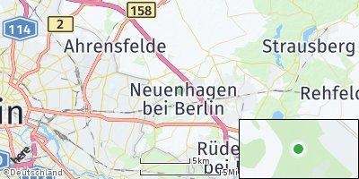 Google Map of Neuenhagen bei Berlin