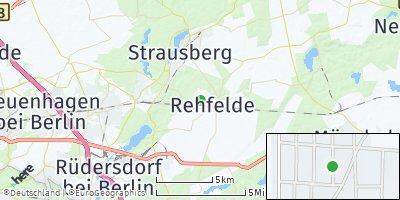 Google Map of Rehfelde bei Strausberg
