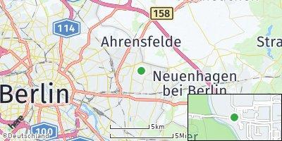 Google Map of Marzahn-Hellersdorf