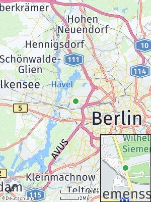 Here Map of Siemensstadt