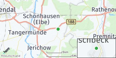 Google Map of Wust bei Schönhausen
