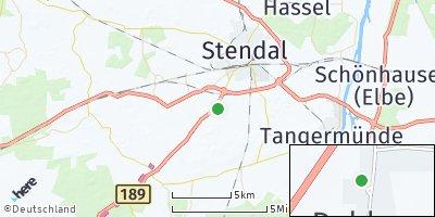 Google Map of Dahlen bei Stendal