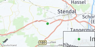 Google Map of Insel bei Stendal