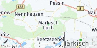 Google Map of Märkisch Luch