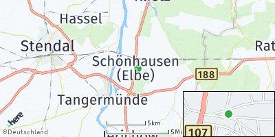 Google Map of Schönhausen