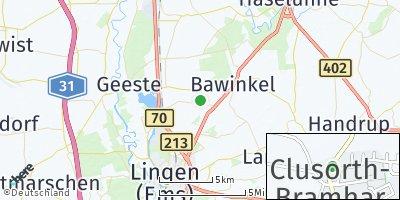 Google Map of Clusorth-Bramhar