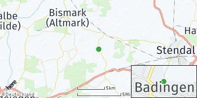 Google Map of Badingen bei Stendal