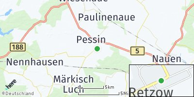Google Map of Retzow bei Nauen