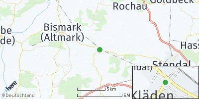 Google Map of Kläden bei Stendal