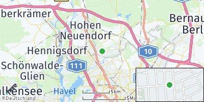 Google Map of Glienicke / Nordbahn