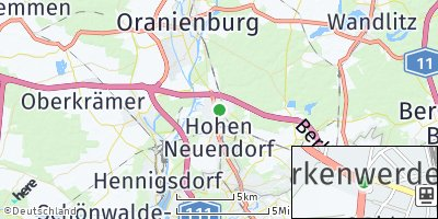 Google Map of Birkenwerder