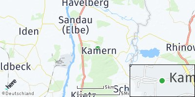 Google Map of Kamern bei Schönhausen