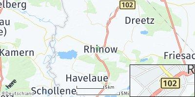 Google Map of Rhinow