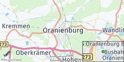 Google Map of Oranienburg