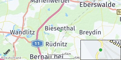Google Map of Biesenthal