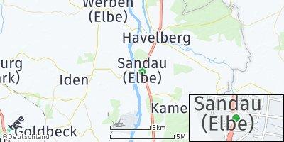 Google Map of Sandau