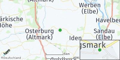 Google Map of Königsmark