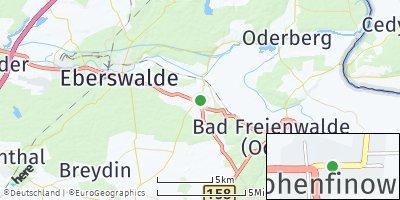 Google Map of Hohenfinow