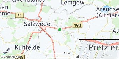 Google Map of Pretzier
