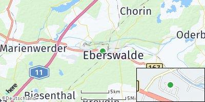 Google Map of Eberswalde