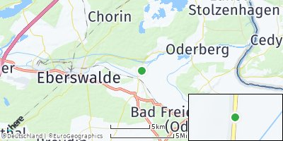 Google Map of Niederfinow