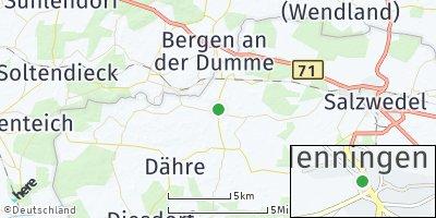 Google Map of Henningen bei Salzwedel