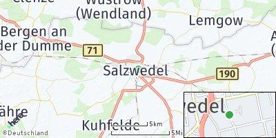 Google Map of Hansestadt Salzwedel