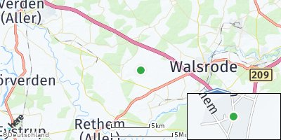 Google Map of Vethem