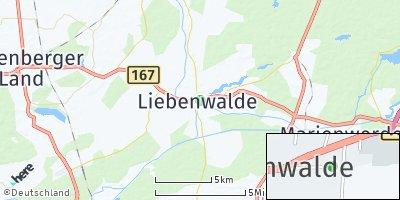 Google Map of Liebenwalde