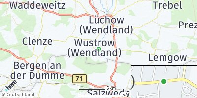 Google Map of Wustrow