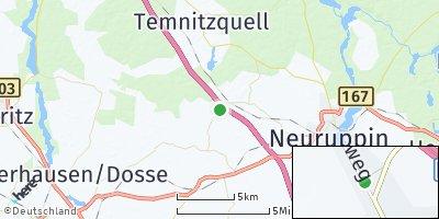 Google Map of Walsleben bei Neuruppin