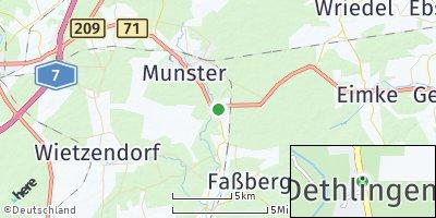 Google Map of Dethlingen