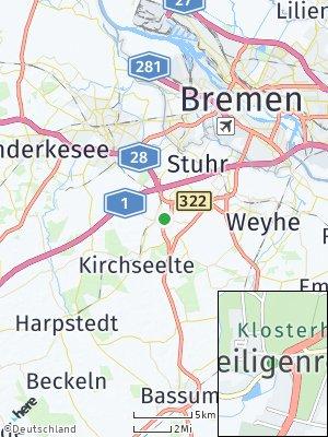 Here Map of Heiligenrode bei Bremen