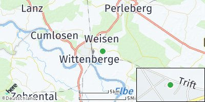 Google Map of Breese bei Wittenberge