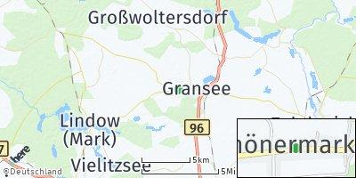Google Map of Schönermark bei Gransee