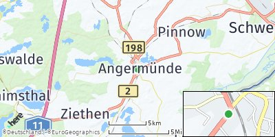 Google Map of Angermünde