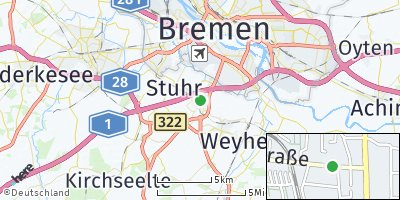 Google Map of Brinkum bei Bremen