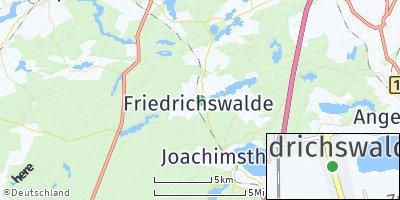 Google Map of Friedrichswalde