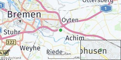 Google Map of Uphusen bei Bremen