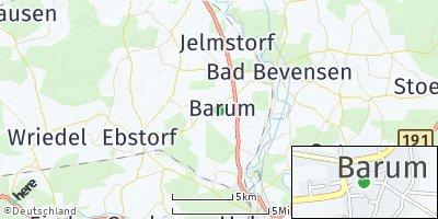Google Map of Barum bei Bad Bevensen