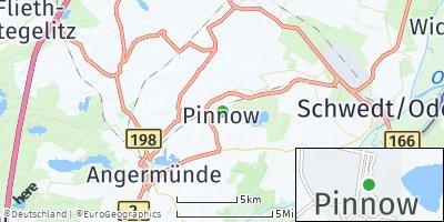 Google Map of Pinnow bei Angermünde